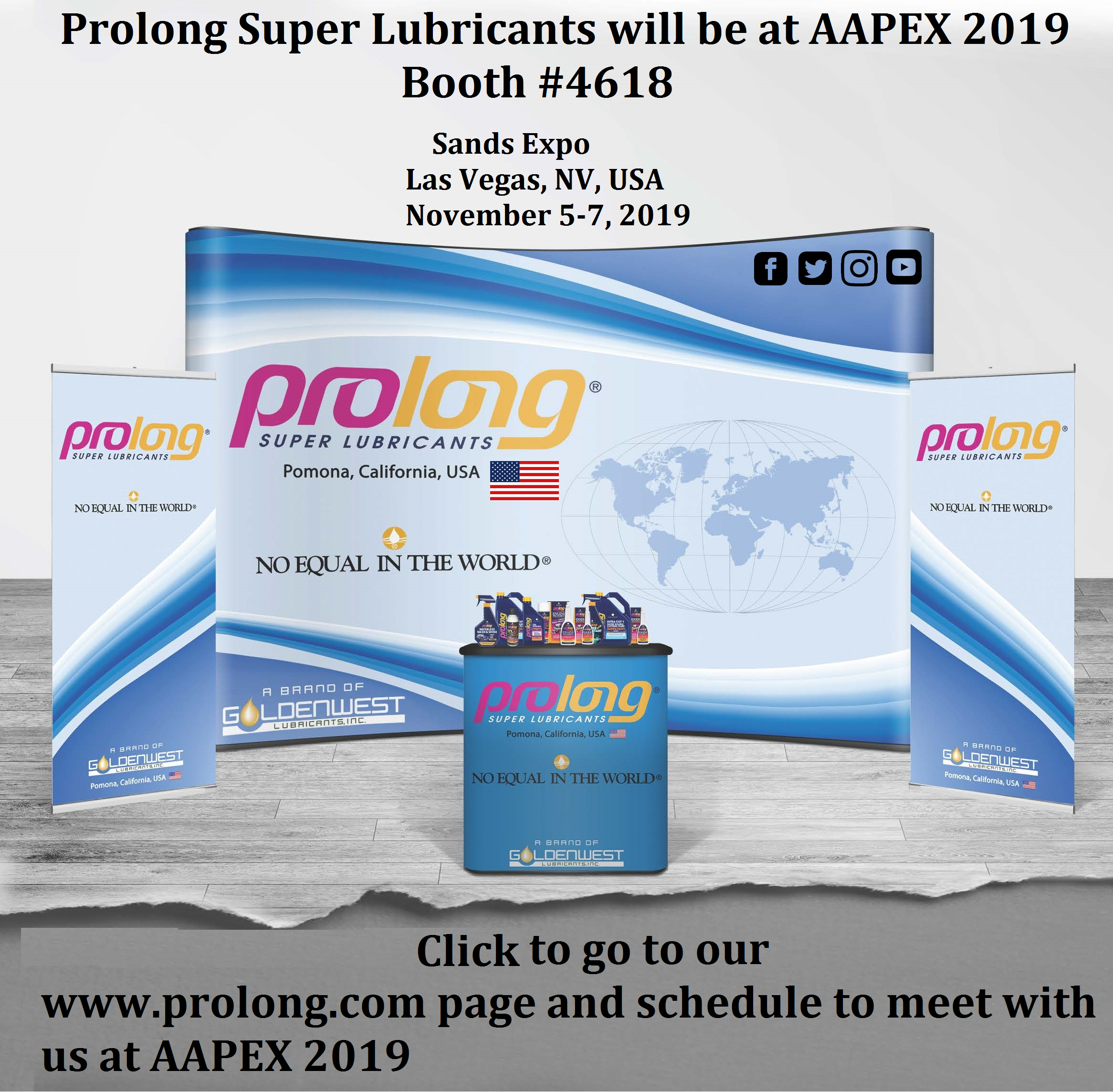 Prolong at AAPEX 2019